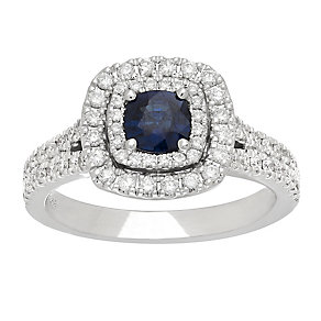 Neil Lane platinum 0.63ct sapphire & diamond ring - Product number 4055284