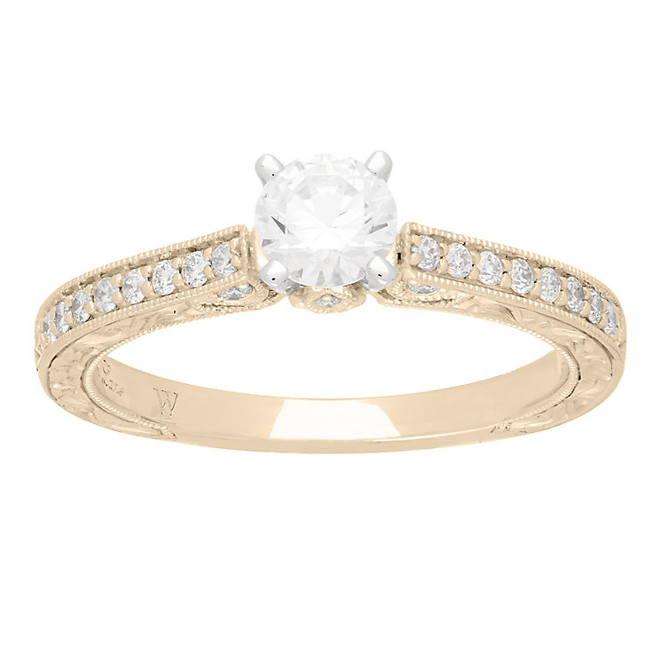 Neil Lane 14ct gold 0.66ct solitaire diamond ring - Product number 4055411