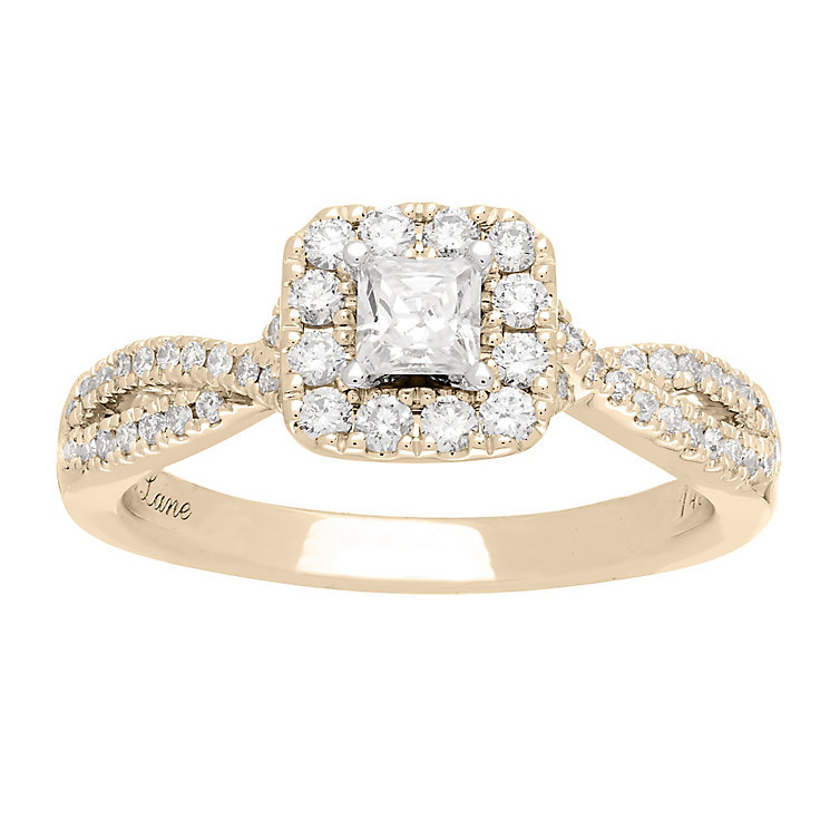 Neil Lane 14ct gold 0.68ct princess cut diamond ring - Product number 4055942