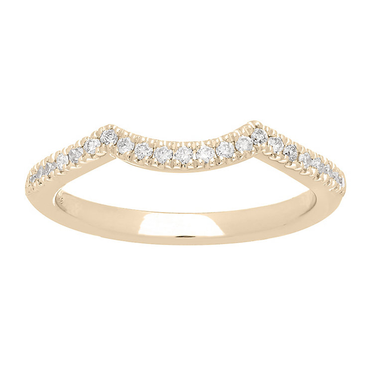 Neil Lane 14ct gold 16pt diamond shaped band - Product number 4056582
