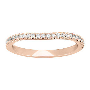 Neil Lane 14ct rose gold 20pt diamond shaped band - Product number 4057031