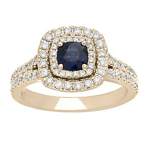 Neil Lane 14ct gold 0.63ct sapphire & diamond ring - Product number 4057333