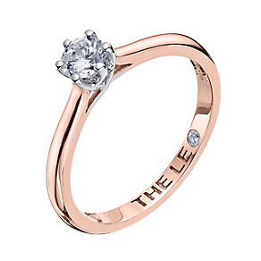 Leo Diamond 18ct rose gold 0.33ct I-I1 solitaire ring - Product number 4057805