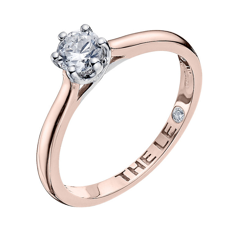 Leo Diamond 18ct rose gold 0.40ct I-I1 solitaire ring - Product number 4057937