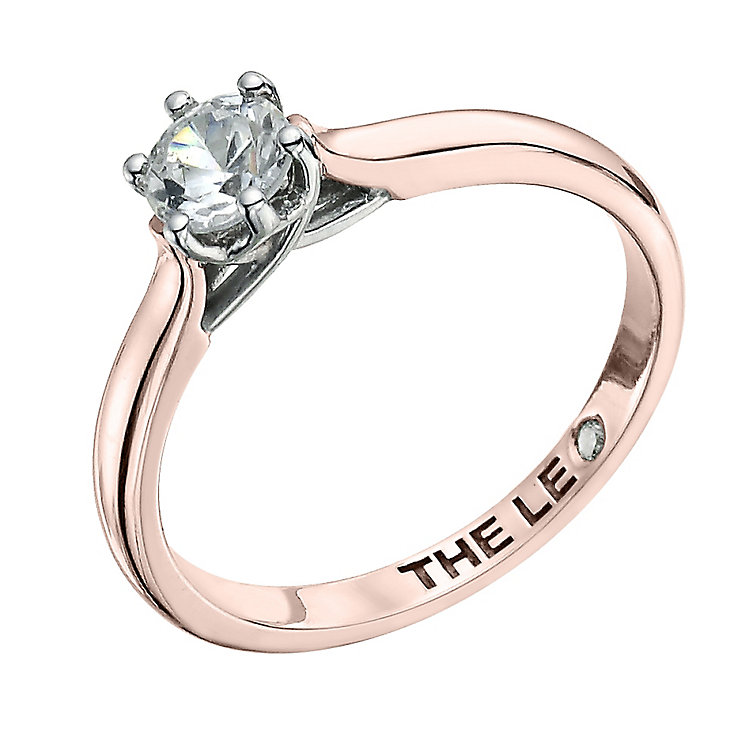 Leo Diamond 18ct rose gold 0.50ct I-I1 solitaire ring - Product number 4058089