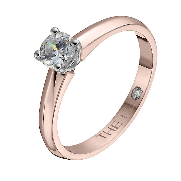 Leo Diamond 18ct rose gold 0.40ct I-I1 solitaire ring - Product number 4058682