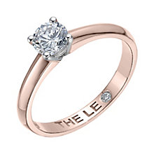 Leo Diamond 18ct rose gold 0.50ct I-I1 solitaire ring - Product number 4058828