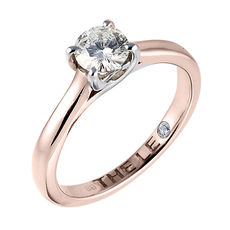 Leo Diamond 18ct rose gold 0.66ct I-SI2 solitaire ring - Product number 4059956
