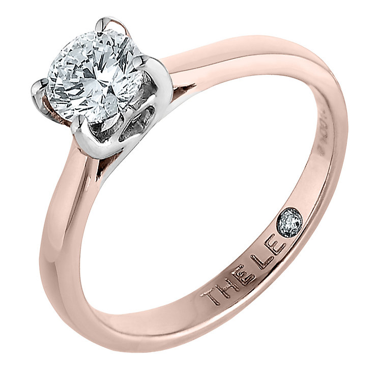 Leo Diamond 18ct rose gold 1.00ct I-SI2 solitaire ring - Product number 4060466
