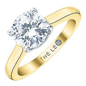 Leo Diamond 18ct Yellow Gold 1.5ct I-S12 Solitaire Ring - Product number 4061640