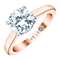 Leo Diamond 18ct Rose Gold 1.5ct I-S12 Solitaire Ring - Product number 4062124