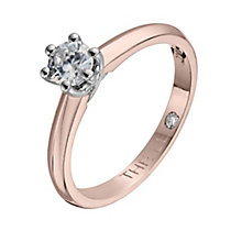 Leo Diamond 18ct rose gold 0.33ct I-SI2 solitaire ring - Product number 4062876