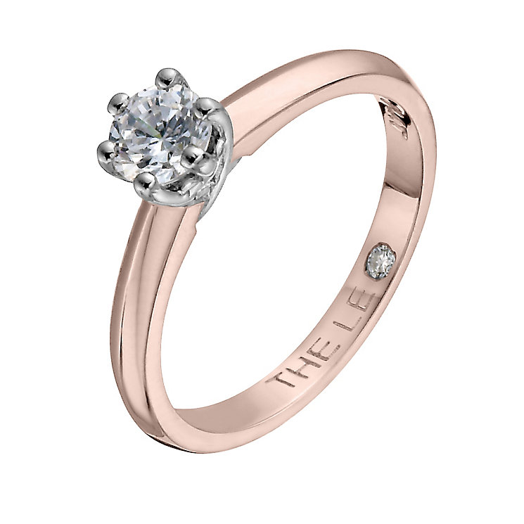 Leo Diamond 18ct rose gold 0.40ct solitaire diamond - Product number 4063007