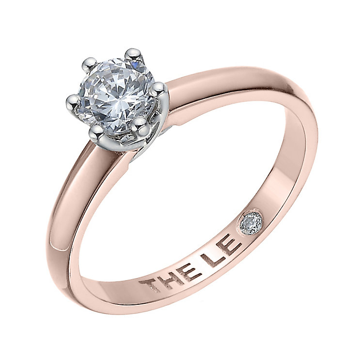 Leo Diamond 18ct rose gold 0.50ct I-S12 solitaire ring - Product number 4063287
