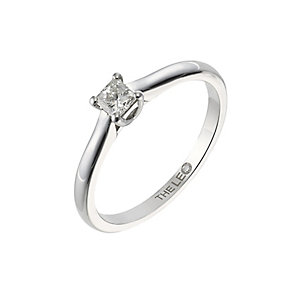 Leo Diamond white gold 0.25ct I-SI2 princess cut ring - Product number 4063414