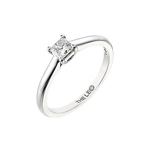 Leo Diamond white gold 0.33ct I-SI2 princess cut ring - Product number 4063554