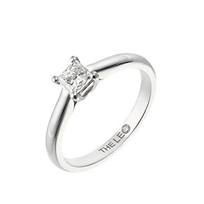 Leo Diamond white gold 0.50ct I-SI2 princess cut ring - Product number 4063694