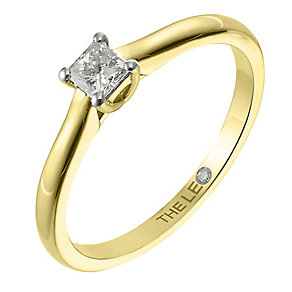 Leo Diamond gold 0.25ct I-SI2 princess cut ring - Product number 4063856