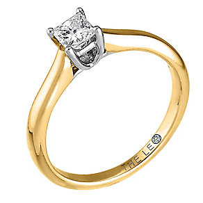 Leo Diamond gold 0.33ct I-SI2 princess cut ring - Product number 4063988