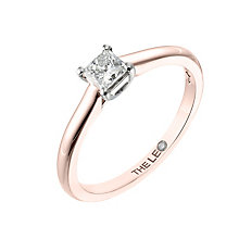 Leo Diamond rose gold 0.33ct I-SI2 princess cut ring - Product number 4064364
