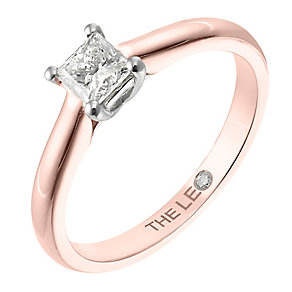 Leo Diamond rose gold 0.50ct I-SI2 princess cut ring - Product number 4064542