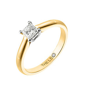 Leo Diamond gold 0.50ct I-SI2 princess cut ring - Product number 4064674