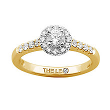 Leo Diamond 18ct gold 0.50ct I-P1 diamond cluster ring - Product number 4065530