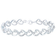 Silver 0.10ct Diamond Heart Bracelet - Product number 4066618