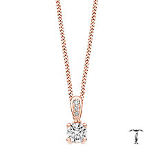 Tolkowsky 18ct gold 0.35ct round cut diamond drop pendant - Product number 4067797