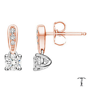 Tolkowsky 18ct rose gold 0.54ct diamond drop earrings - Product number 4067819