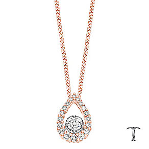 Tolkowsky 18ct Gold 0.33ct Pear Shaped Halo Diamond Pendant - Product number 4067827
