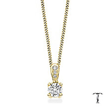 Tolkowsky 18ct gold 0.35ct round cut diamond drop pendant - Product number 4067835