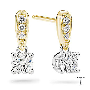 Tolkowsky 18ct gold 0.54ct diamond drop earrings - Product number 4067843