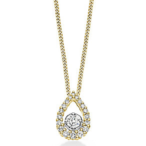 Tolkowsky 18ct gold 0.33ct pear shaped diamond pendant - Product number 4067851