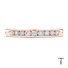 Tolkowsky 18ct rose gold 0.25ct HI-SI2 diamond ring - Product number 4068092