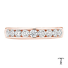 Tolkowsky 18ct rose gold 0.75ct HI-SI2 diamond ring - Product number 4068238
