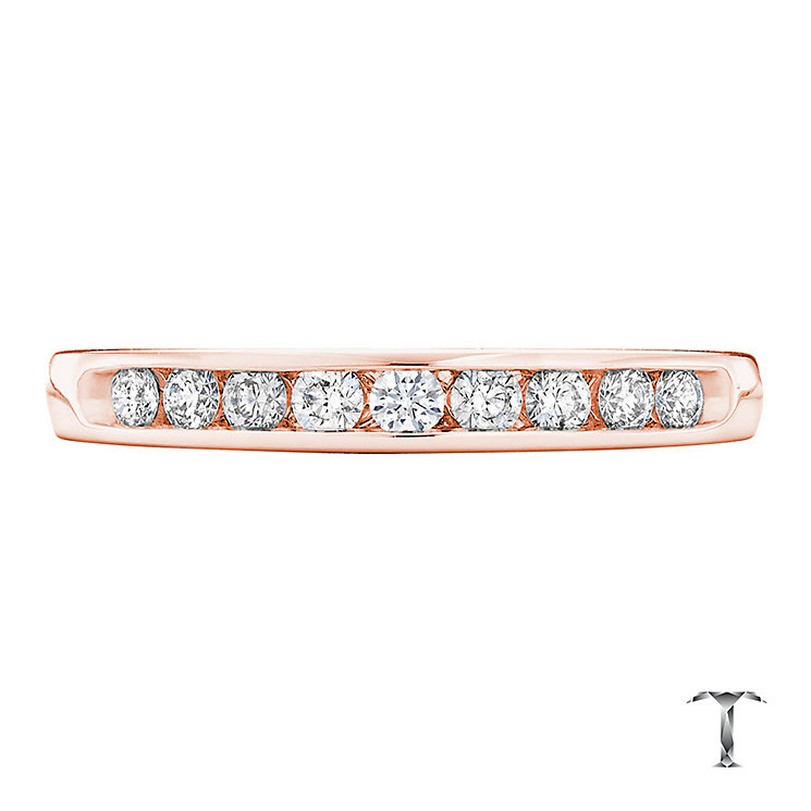 Tolkowsky 18ct rose gold 0.25ct HI-VS2 diamond ring - Product number 4068351