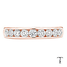 Tolkowsky 18ct rose gold 0.75ct HI-VS2 diamond ring - Product number 4068483