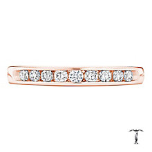 Tolkowsky 18ct rose gold 0.25ct I-I1 diamond ring - Product number 4068610