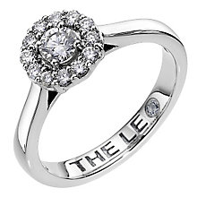 Leo Diamond 18ct white gold 0.50ct I-SI1 diamond halo ring - Product number 4070720