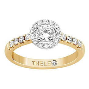 Leo Diamond 18ct gold 3/4ct I-P1 diamond cluster ring - Product number 4071395