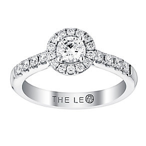 Leo Diamond Platinum I-P1 0.75ct Round Halo Cluster Ring - Product number 4071522
