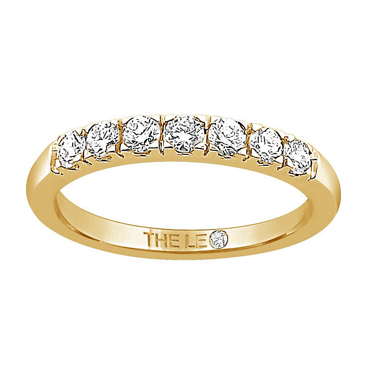 Leo Diamond 18ct gold 1/3ct I-I1 claw set diamond band - Product number 4071719