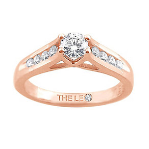 Leo Diamond 18ct rose gold 1/2ct I-SI2 diamond ring - Product number 4071867