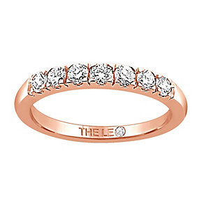 Leo Diamond 18ct rose gold 1/3ct I-I1 claw set diamond band - Product number 4071999