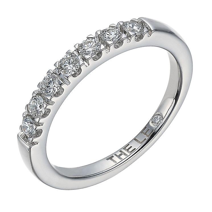 Leo Diamond platinum 1/3ct I-I1 claw set diamond band - Product number 4072138