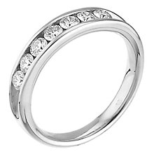 Leo Diamond 18ct white gold 1/2ct I-SI2 7 stone diamond ring - Product number 4072251