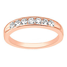 Leo Diamond 18ct rose gold 0.50ct I-SI2 diamond ring - Product number 4072383