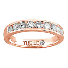 Leo Diamond 18ct rose gold 0.50ct I-P1 diamond eternity band - Product number 4072669