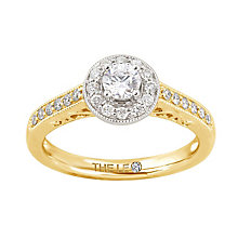 Leo Diamond 18ct gold 1/2ct I-I1 diamond vintage halo ring - Product number 4072812
